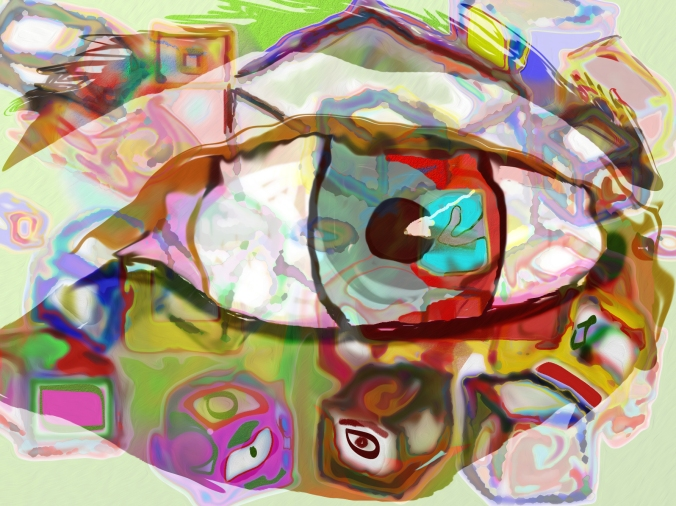 Cube and eye