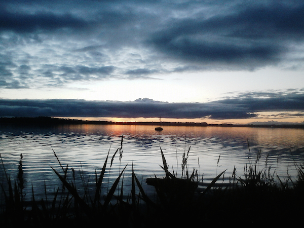 sunset at loughrea lake 2 copy